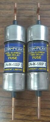Bussmann Lpn-Rk-100Sp Low-Peak Time Delay Fuse 100Amp 250Vac 250Vdc Lot Of 2