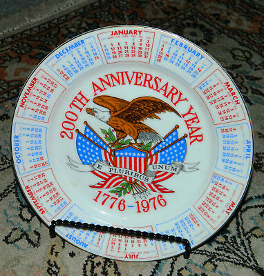 Vintage 1776-1976 Bicentennial Collector Plate, 200th Anniversary, Spencer Gifts