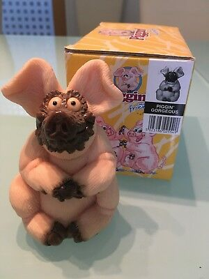 Piggin' Gorgeous funny pig figurine keepsake Beauty Mud Mask NIB Rare