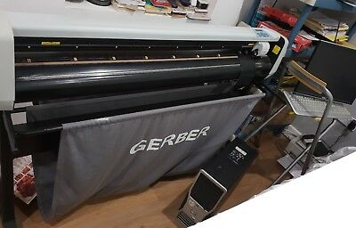 Gerber P2C1200 vinyl plotter cutter with heavy duty work surface and vinyls