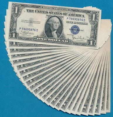 25-$1.00  1935-C Series Consecutive Blue Seal Silver Certificates  Dealers Lot