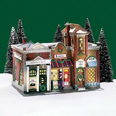 "Dept 56 Christmas in the City ""Riverside Row Shops"" Brand New"