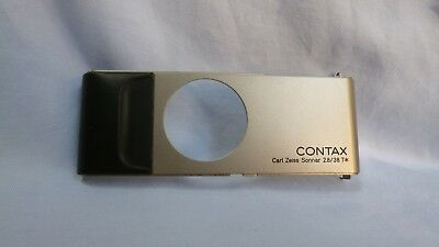 Contax T2 Replacement Part Front Plate Silver