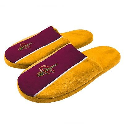 Pair of Cleveland Cavaliers Big Logo Stripe Slide Slippers House shoes New STP18