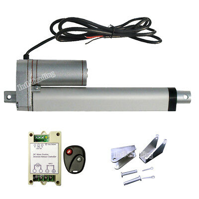 """High Power 1500N 6"""" Linear Actuator +Remote Control +Brackets for Auto Car Lift"""