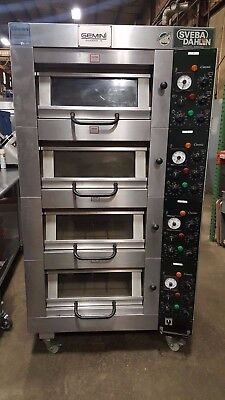 Gemini Sveba Dahlen DC-41 Commercial Electric 4 Deck Steam Bakery Oven Stone