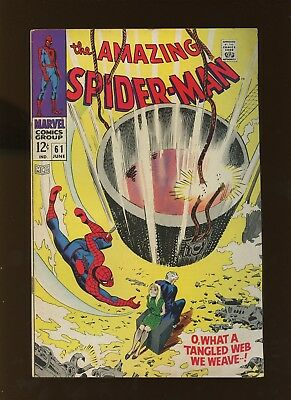 Amazing Spider-Man 61 VG/FN 5.0 *1 Book* 1968 Marvel! 1st Gwen Stacy on cover!