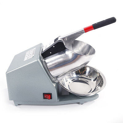 300W Commercial Electric Snow Ice Shaver 143lbs Snow Cone Maker Machine Crusher
