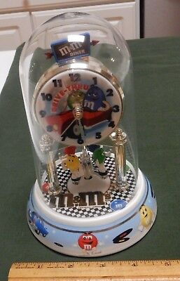 Vintage M&M Candy Anniversary Drive-Thru Moving Clock & Dome Hard to Find