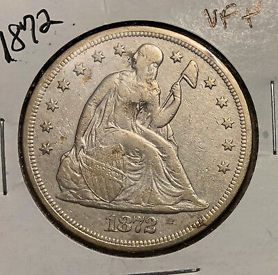 1872 Vf/ef Liberty Seated Dollar No Reserve