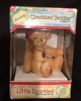 Choice of Cherished Teddies Birthday Birthstone Teddy Bear Figurines Jan- Dec