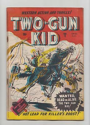 Two-Gun Kid #1 1st Appearance; Rare Canadian Edition (Bell Features 1948) VG 4.0