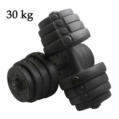 30KG Dumbbell Set Adjustab Weight Workout Fitness Gym Home Strength Training
