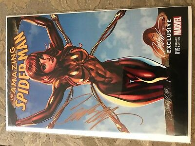 Amazing Spider-man 15 J Scott Campbell Signed SDCC Exclusive Mary Jane Color