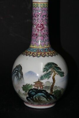 Very Beautiful Old Chinese Vase With Character Marks & Seal Mark On Base - Rare
