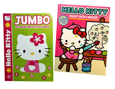 Hello Kitty Paint With Water Book and Fairy coloring books 4 total