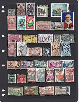 French colonies 225 mint & used classic stamps collection/accumulation