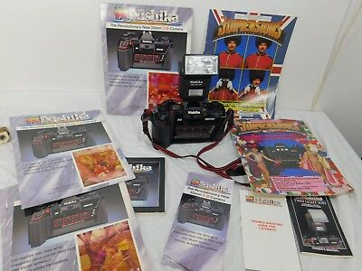 NISHIKA N8000 3D 35mm CAMERA W INSTRUCTIONS Flash and Books