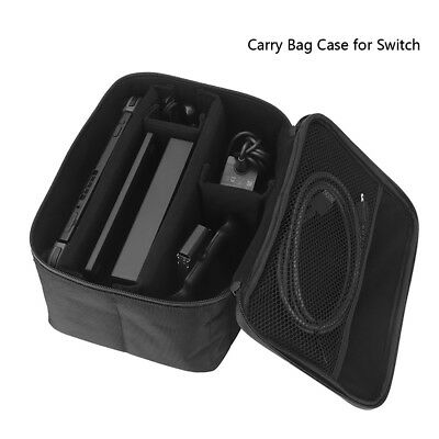 Black Carry Bag Case for Nintendo Switch Cover with Carrying Handle 26*18*14cm