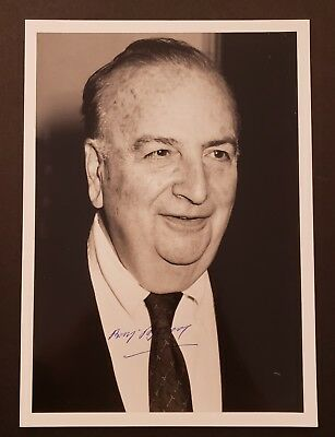 Baruj Benacerraf Hand Signed Photo..Immunologist 1980 Nobel Prize in Physiology