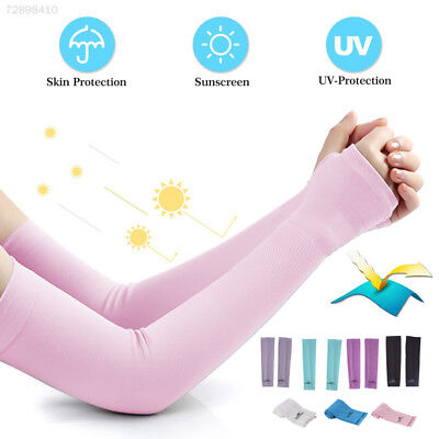 0C32 1 Pair Cooling Arm Sleeves Cover Anti UV Sun Protection Golf Bike Cycling