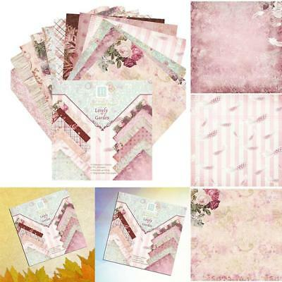 24Pcs Scrapbooking Paper Handmade DIY Photo Album Background Card Craft 6 Inched