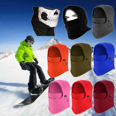 Ski Full Face Mask Cover Hat Cap Motorcycle Thermal Fleece Balaclava Neck Winter