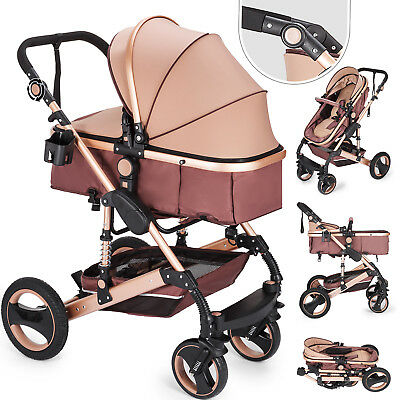 2 in 1 Baby Stroller Buggy Kids Pram Pushchair Convertible Adjustable Luxury