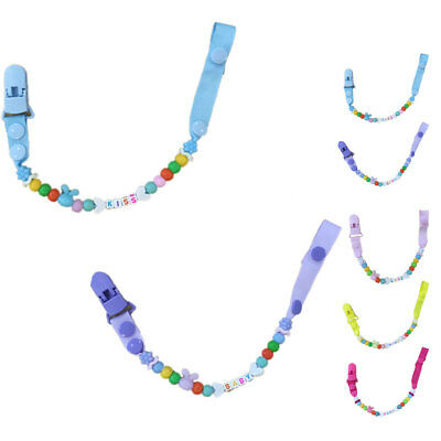 Dummy Pacifier Clip Soother Chains for Baby Girls BPA Free Soft Silicone Teet