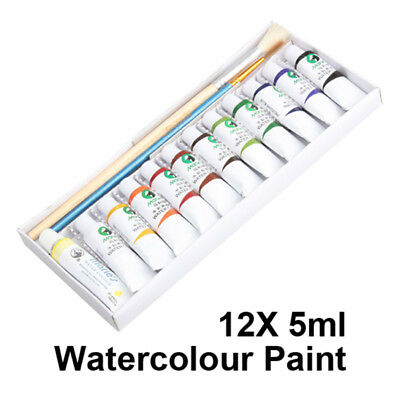 12 Tubes/Set Portable 5ml Art Water Color Travel Kids Watercolour Paints Ki HCXM