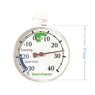 Refrigerator Freezer Thermometer Fridge DIAL Type Stainless Steel Hang Stand US