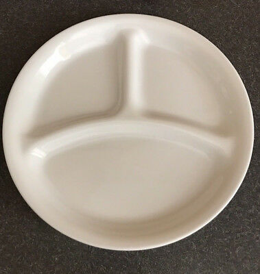 "Set Of 5 Corelle 8.5"" Luncheon Winter Frost White Divided Grill Plates New"