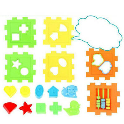 Baby Kids DIY Cognitive Six-Side Geometric Shape Assembled Learn Educational Toy