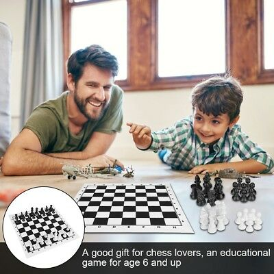 Prime Chess Hand Crafted Portable Plastic Chess And Draughts Set 35cm x 13.8cm