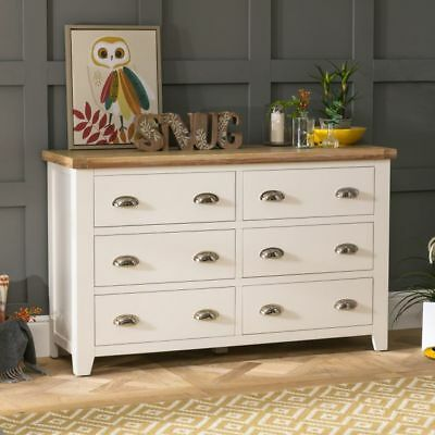 Cheshire Cream Painted Wide 6 Drawer Chest-WW11