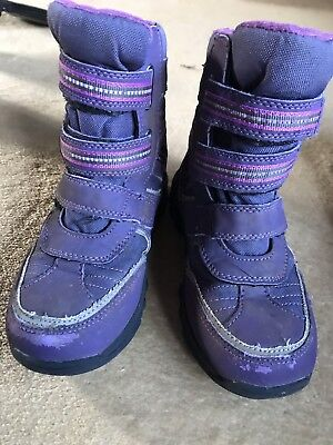 M&S Snow Boots Winter Waterproof Size 11 Girl's Purple