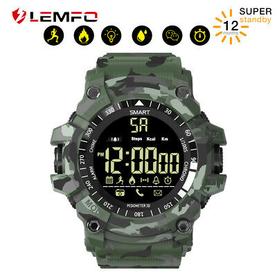 Lemfo IP68 50M Etanche Smart Watch Chronomètre EX16 Plus Podomètre Montre Homme