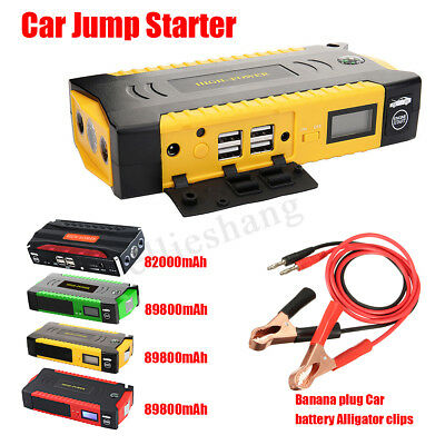 Car Jump Starter 82000/89800mAh Battery Booster Portable Power Bank 4USB Charger
