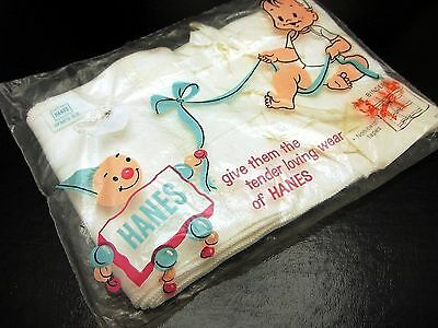 Vintage Hanes Infant Binder Clothing Sealed In Original Packaging