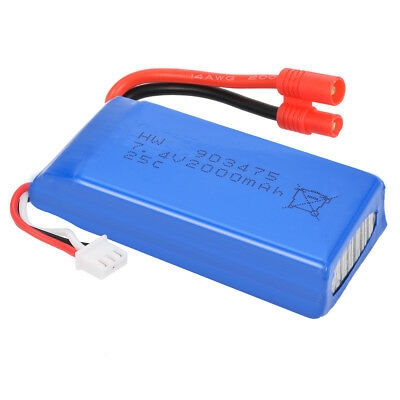 1 2PCS 7.4V 25C 2000mAh R Plug Batteria Per Syma X8C X8W X8G Drone Quadcopter IT