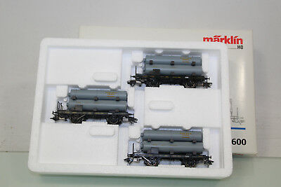 "Märklin H0 46600 Wagen-Set 3tlg. ""Gaswagen"" K.Bay.Sts.B. Top in OVP (SL5614)"