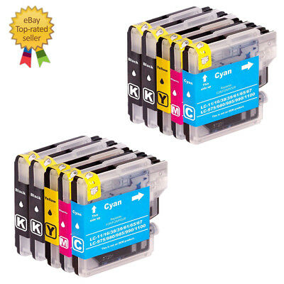 10 Ink for Brother LC61 MFC-490CW MFC-495CW MFC-295CN MFC-5490CN MFC-J415W