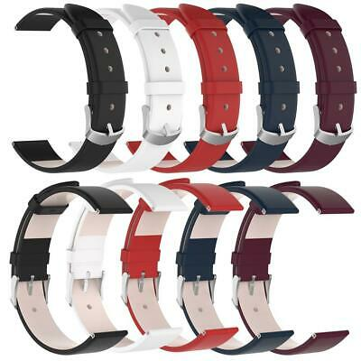 Genuine Leather Wrist Band Strap For Garmin Vivoactive3 Vivomove HR J3I0 20mm