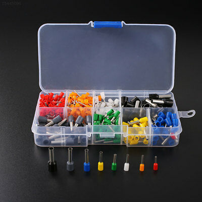 100D 400Pcs Wire Crimp Connector Pin End Terminal Ferrules Kit Set with Box 2AB9