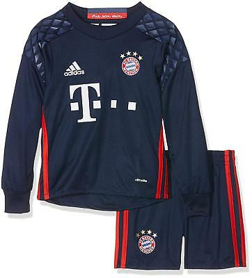 Bayern Munich Mini Kit Goalkeeper 100% Official Adidas Shirt & Shorts 1-2 Years