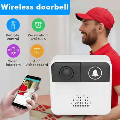 Smart WiFi Doorbell Camera Ring Wireless Intercom HD Video 720P Security Bell