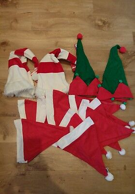 Joblot Christmas Santa Elf hats adult childs fancy dress wholesale brand new