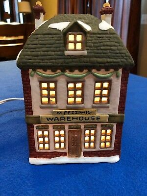 "Department 56 Dickens Village ""A Christmas Carol"" M Fezziwig Warehouse Retired"
