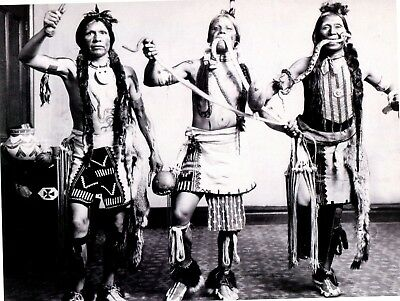 Postcard Reproduction From Old Photograph Of Native American Indian Snake Dance