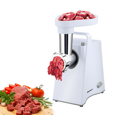 Electric Meat Grinder Home Mincing Machine Sausage Stuffer Stainless Steel White